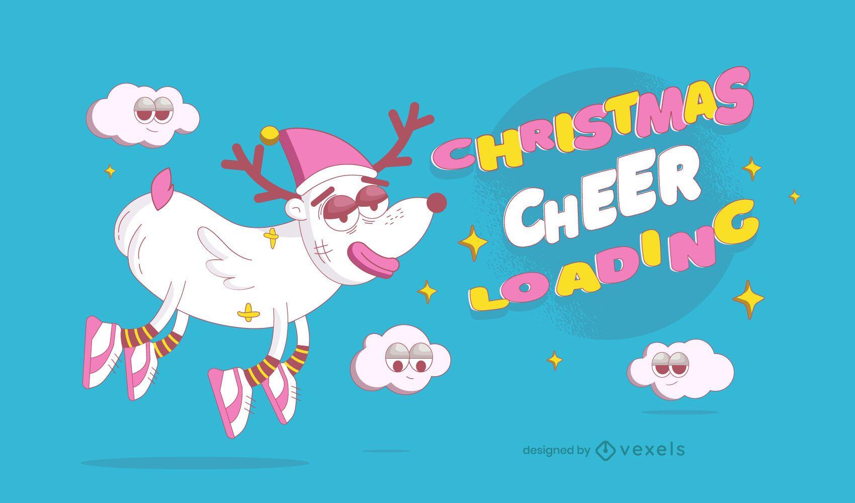 Diseño de ilustración de carga de alegría navideña