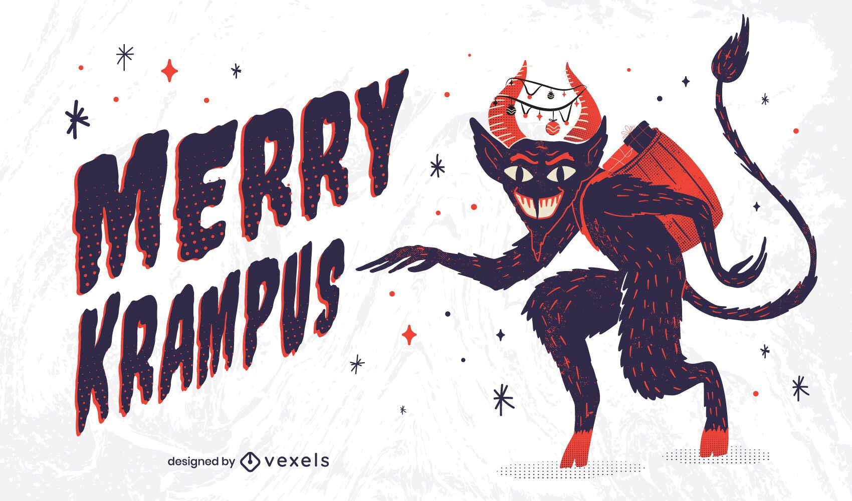 Merry krampus illustration design