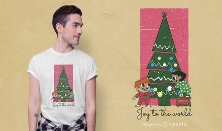 Weihnachtskinder-T-Shirt Design