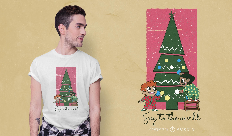 Diseño de camiseta infantil navideña