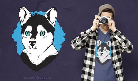 Pomsy Hund T-Shirt Design