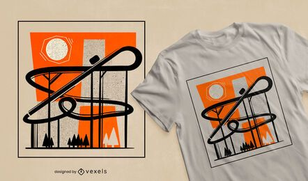 Achterbahn T-Shirt desgn