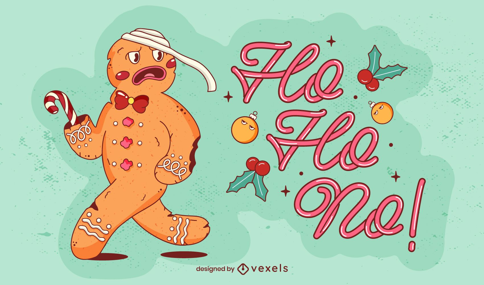 Ho ho no illustration design