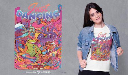 Diseño de camiseta Just dancing
