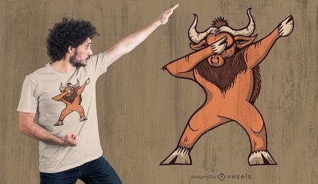 Diseño de camiseta dabbing ox