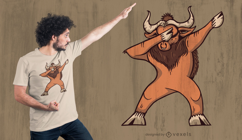 Dabbing ox t-shirt design