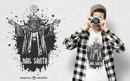 Diseño de camiseta Hail Santa