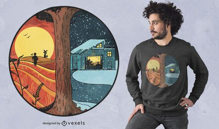 Sommer Winter Land T-Shirt Design