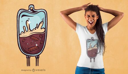 Diseño de camiseta con bolsa de cerveza Porter.