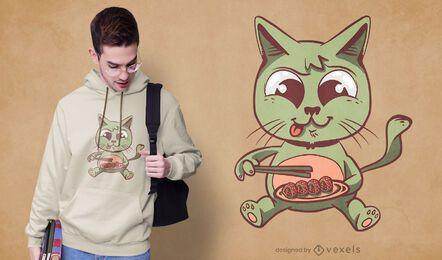 Katzen-Sushi-T-Shirt Design