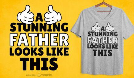 Impressionante design de camisetas para o pai