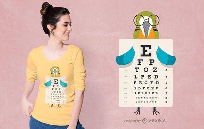 Diseño de camiseta de gráfico ocular de loro