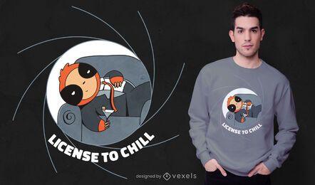Design de camiseta para preguiça chill