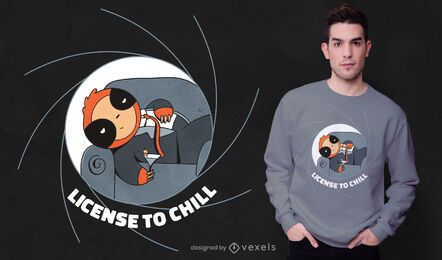Diseño de camiseta Chill Sloth