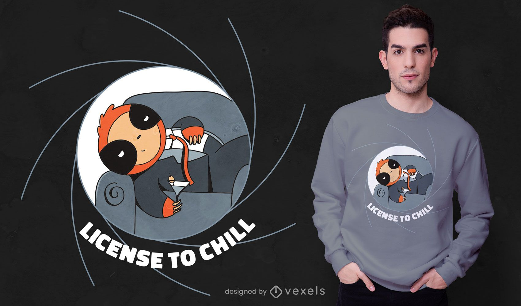 Chill sloth t-shirt design