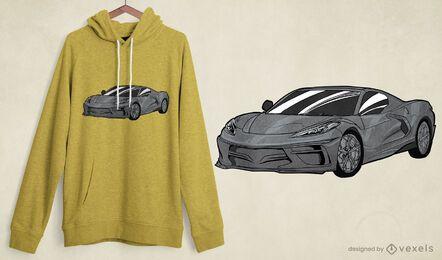 Elegantes Sportwagen-T-Shirt Design