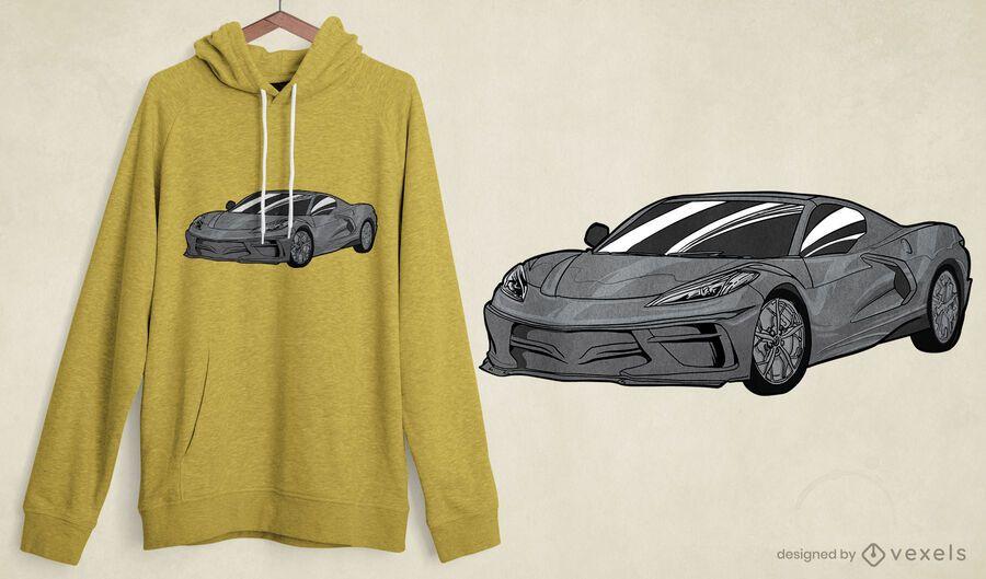 Elegante diseño de camiseta de coche deportivo.