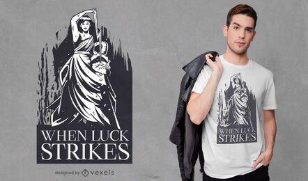 Design de camiseta da deusa Fortuna