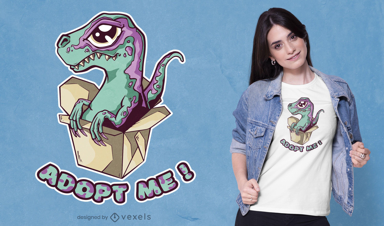 Design de camisetas de adoção do Raptor