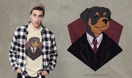 Suited dog t-shirt design