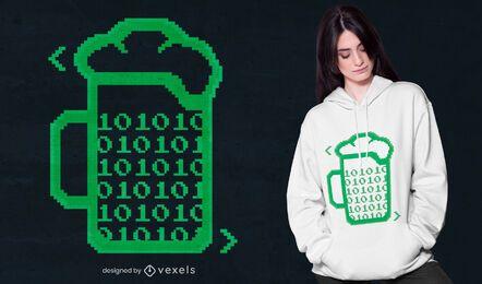Design de camiseta com código de cerveja