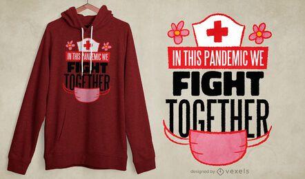 Lute juntos design de camisetas