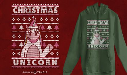 Suéter feio com design de camiseta de natal