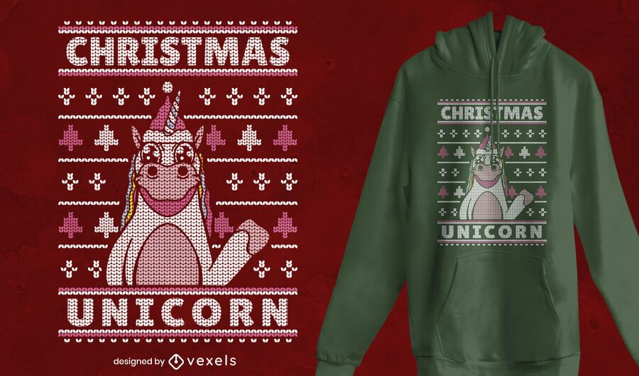 Ugly sweater christmas t-shirt design