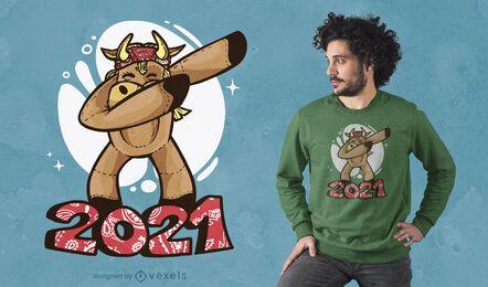 Design de camiseta do Boi dabbing 2021