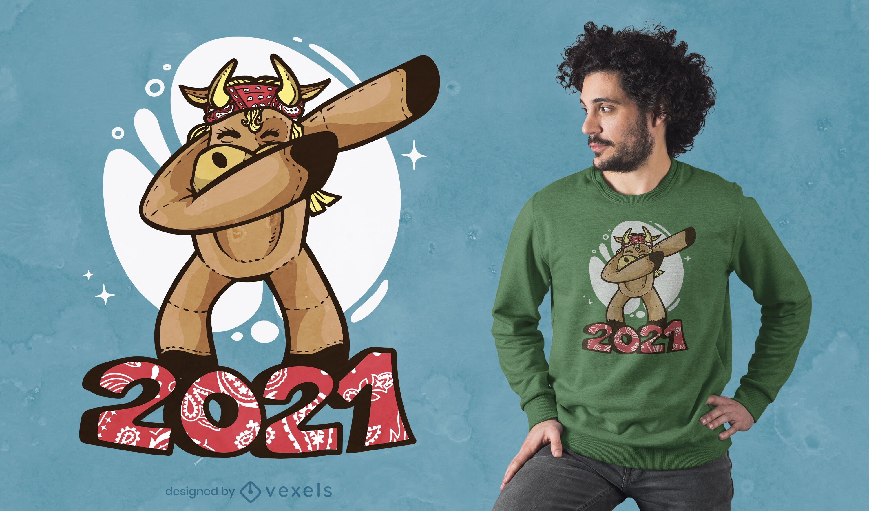 Diseño de camiseta Ox dabbing 2021