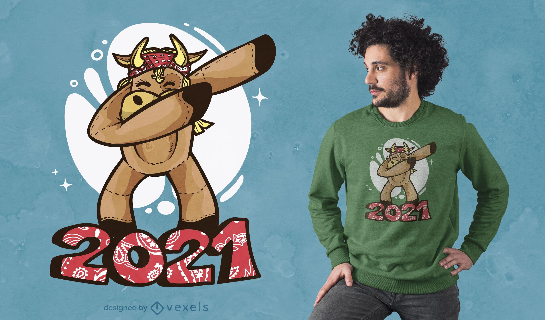 Ox dabbing 2021 t-shirt design