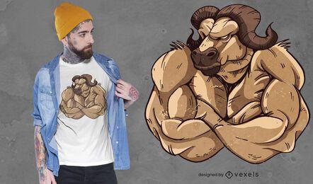 Design forte de t-shirt boi