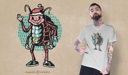 Design de camiseta rolly polly de Natal