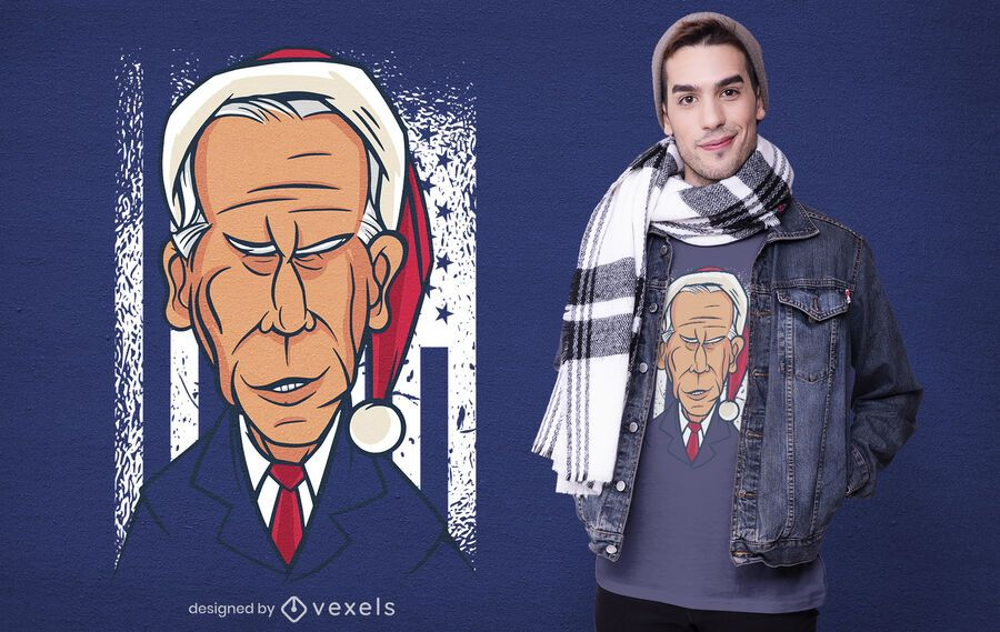 Christmas biden t-shirt design