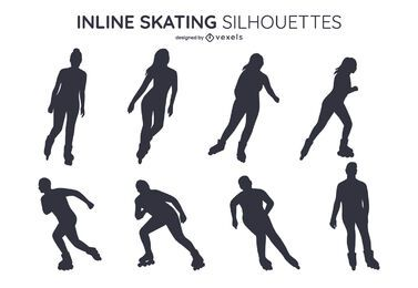 Inline skating silhouette set design