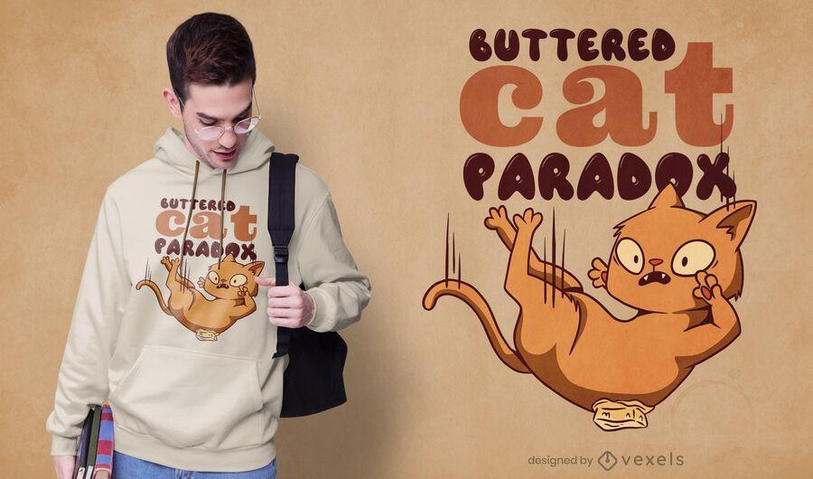 Design de t-shirt de gato amanteigado
