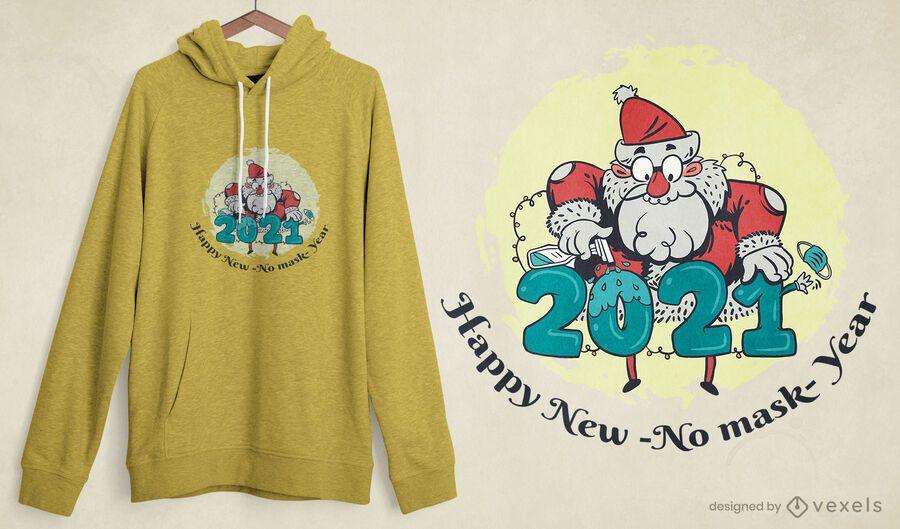 Disinfecting santa t-shirt design