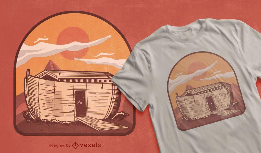 Diseño de camiseta arca de noé