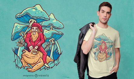 Diseño de camiseta de mago de fantasía