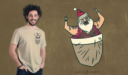 Pocket santa t-shirt design