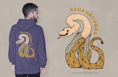 Design de t-shirt Bananaconda