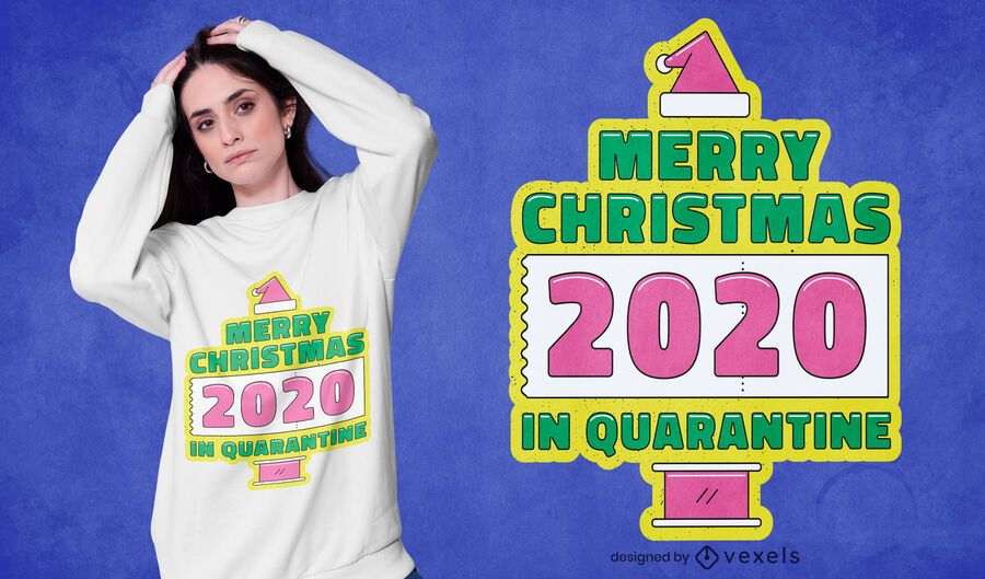 Christmas in quarantine t-shirt design
