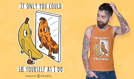 Diseño de camiseta banana mirror