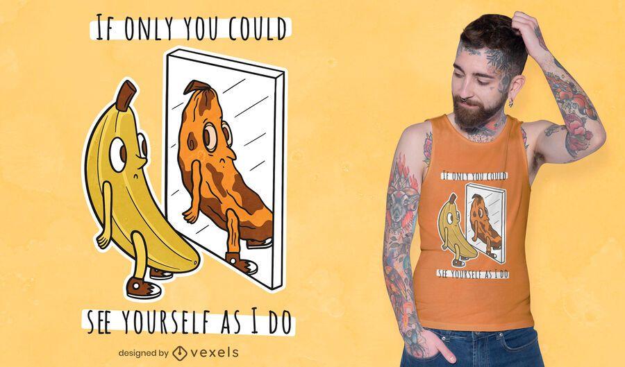 Banana mirror t-shirt design