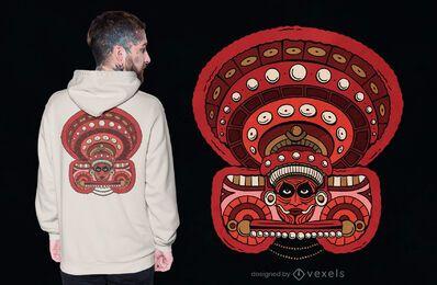 Diseño de camiseta Theyyam Kolam