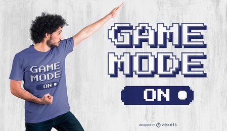 Modo de jogo no design de camisetas