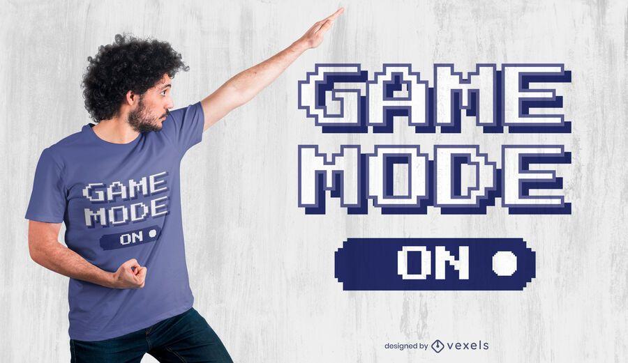 Game mode on t-shirt design
