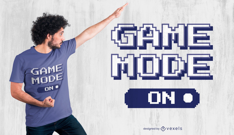 Spielmodus auf T-Shirt Design