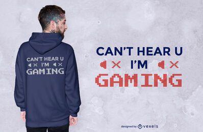 No puedo escucharte el diseño de la camiseta