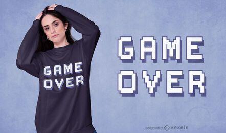 Design de camisetas game over quote